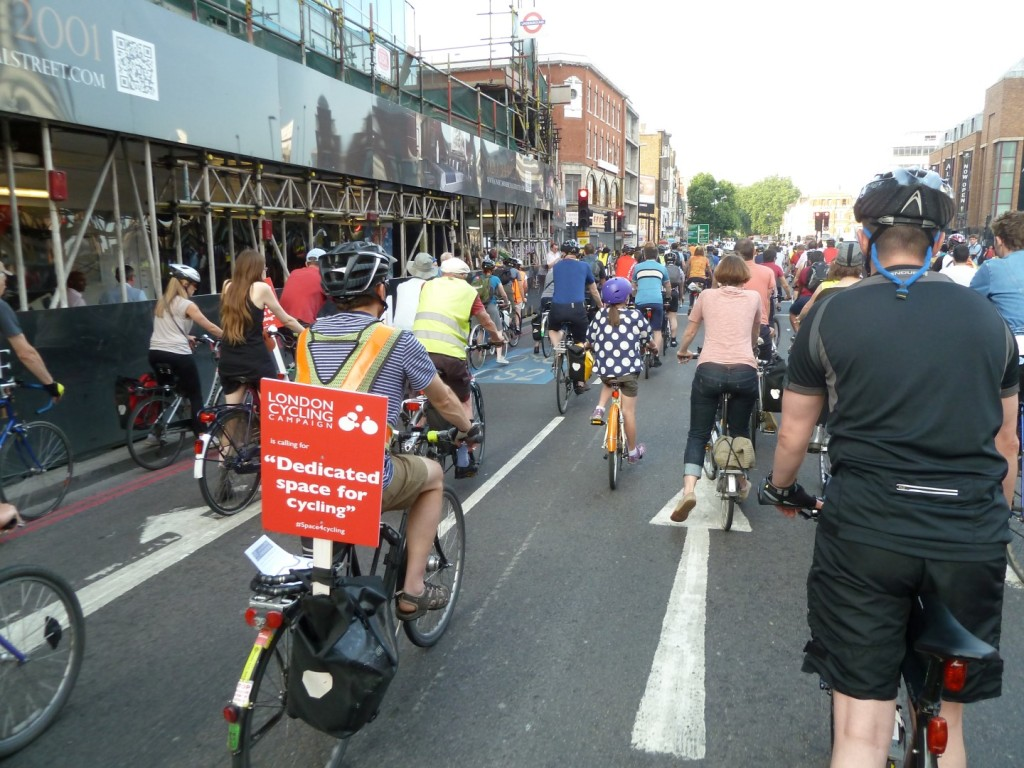 London Cycling Campaign Space For Cycling Protest Ride